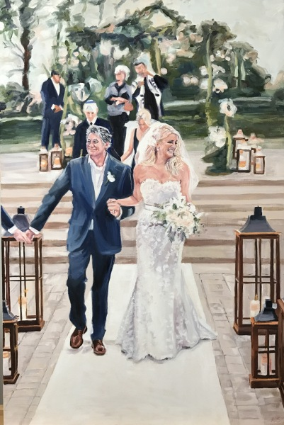 wedding gift, commission, wedding portrait, Mr. and Mrs.