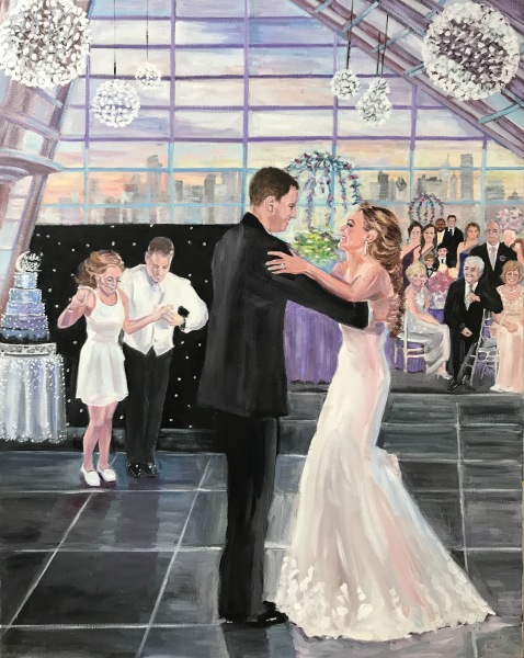 Adler Planetarium, Live Event Painting, Greek Wedding, Chicago Wedding, Chicago