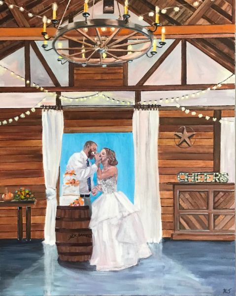Wedding, Live Event Painting, Wedding Portrait